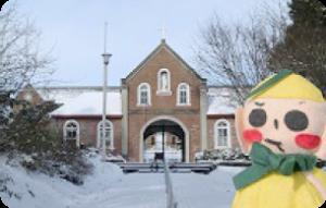 雪化粧の修道院