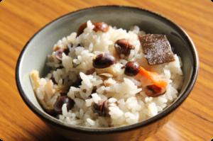 タマフクラの炊き込みご飯